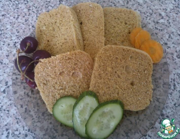Дрожжевой хлеб из овсяных отрубей по диете Дюкана