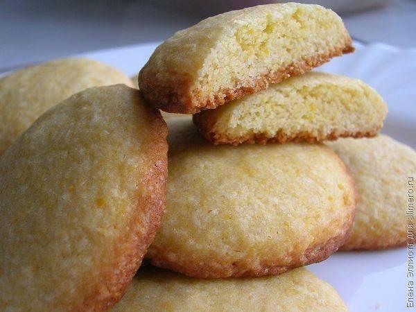 Печенье миндально-кукурузное