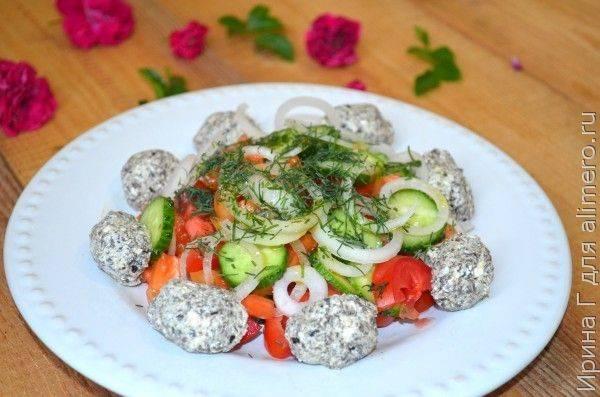 Творог с овощами для похудения и диеты