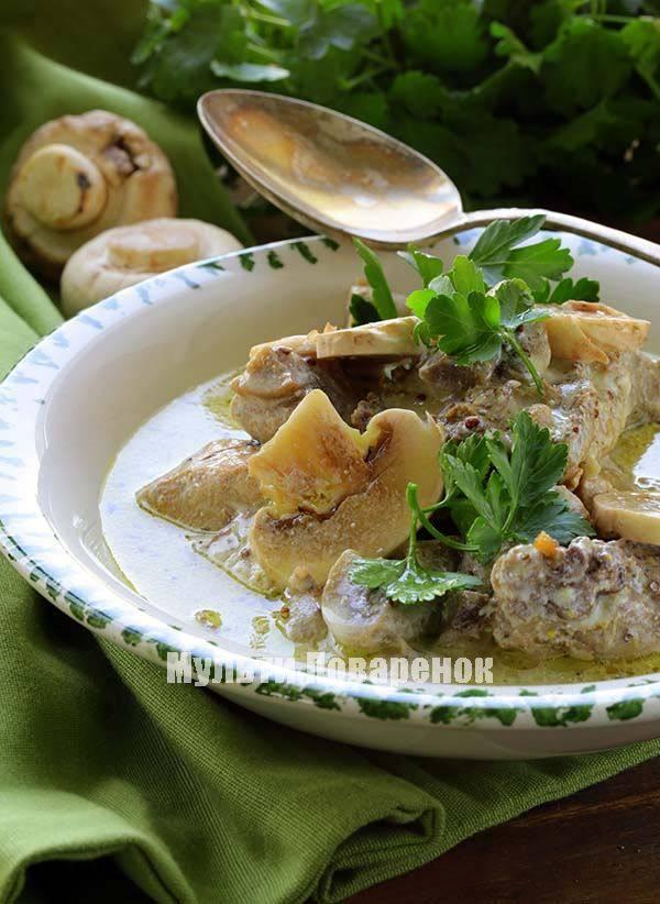 Рецепты приготовления куриных бёдрышек с грибами