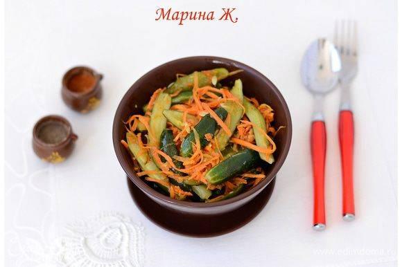 Огурцы по-корейски быстрого приготовления. пошаговый рецепт • кушать нет