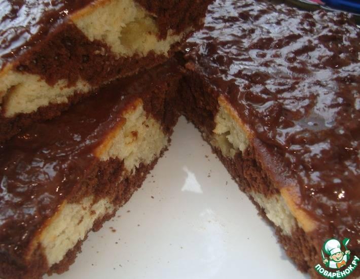 Пирог «зебра» на сметане - классические и простые рецепты со сгущенкой, кефиром, без яиц и масла
