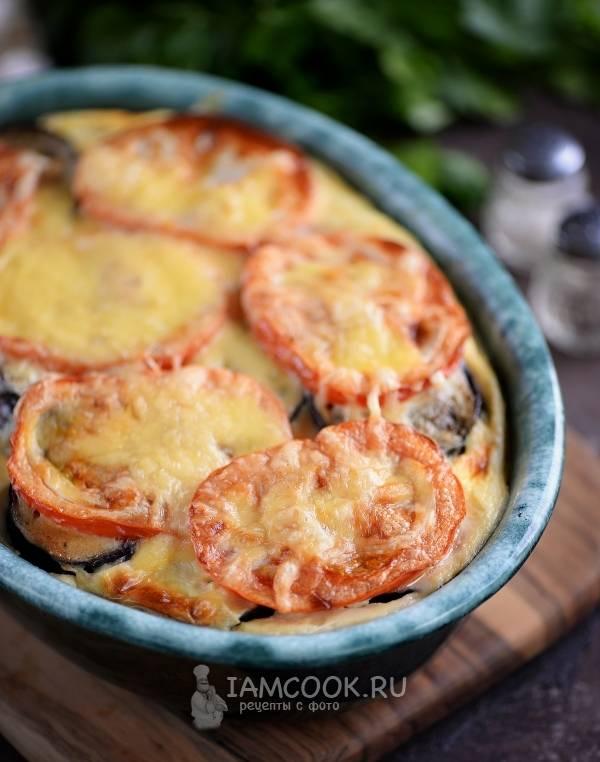 Рецепт тушеной картошки с грибами и баклажанами