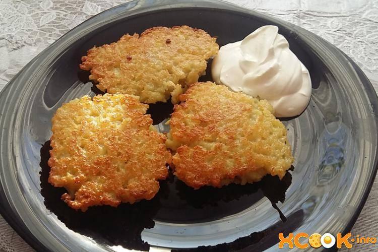 Картофельные блинчики с мясом