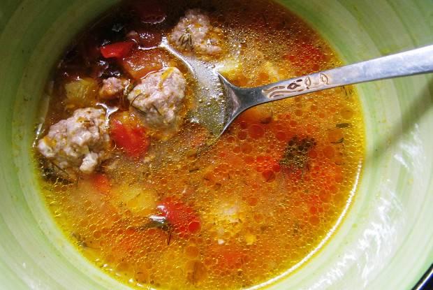 Суп с фрикадельками или итальянский свадебный суп