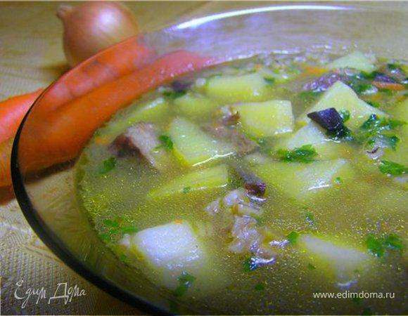 Суп грибной по-польски
