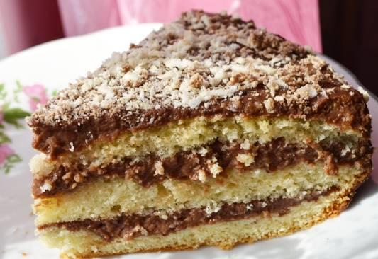 Шоколадный торт из наливных коржей