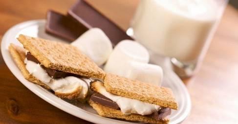Печенье-сэндвич с зефиром