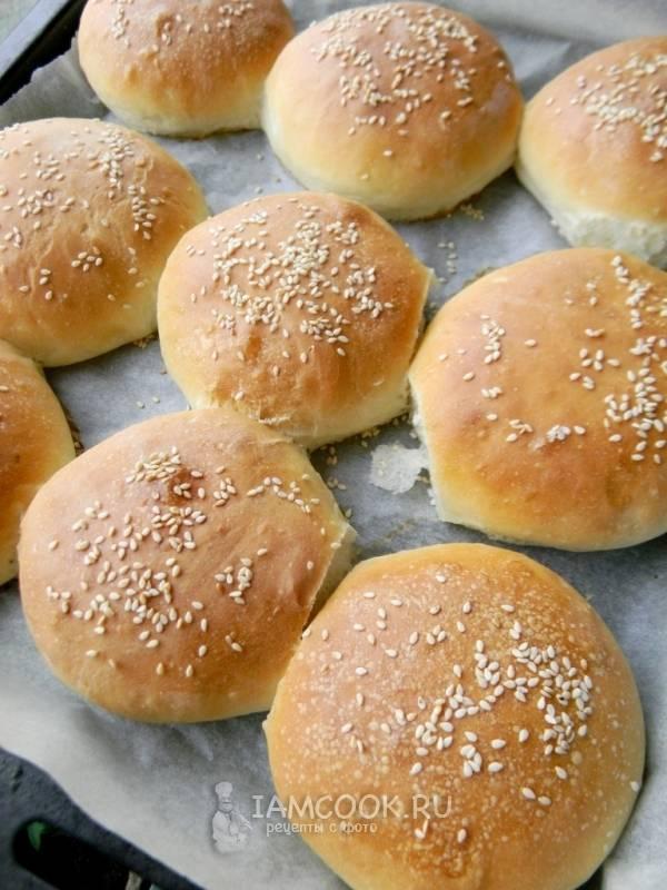 Пышные и мягкие булочки для гамбургеров