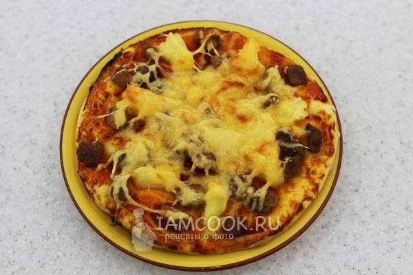 Пицца со свининой и луком – рецепт пошаговый с фото