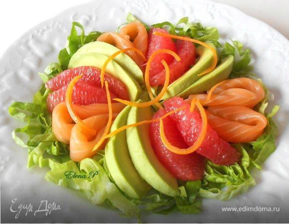 Рецепты салат из авокадо и грейпфрута