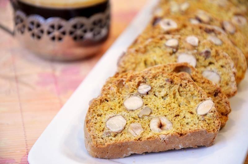 Итальянское печенье бискотти с лимоном и орехами
