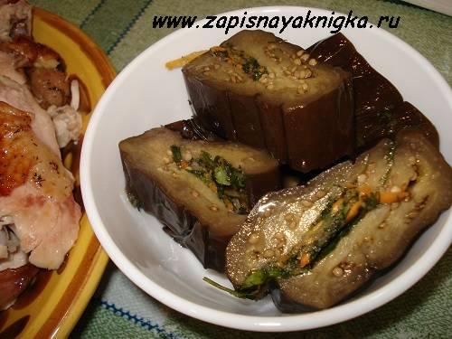 Рецепты блюд из фаршированных баклажанов запечённых в духовке с различными начинками