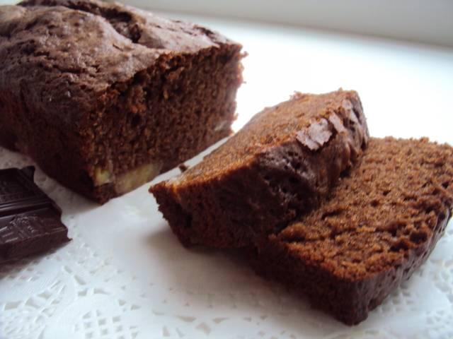 Шоколадно банановый кекс