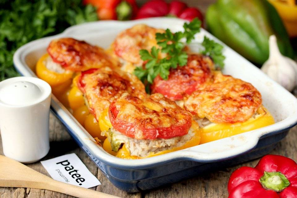 Фаршированные перцы с фаршем запеченные в духовке. лучшие рецепты приготовления фаршированного перца с разными начинками