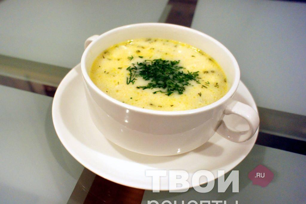 Сырный суп с плавленным сыром — 4 простых рецепта пошагово