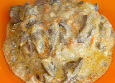 Гречка с куриной печенью и яйцами