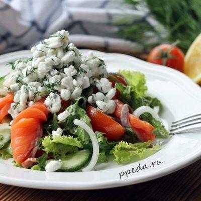 Овощной салат с творогом - 7 пошаговых фото в рецепте