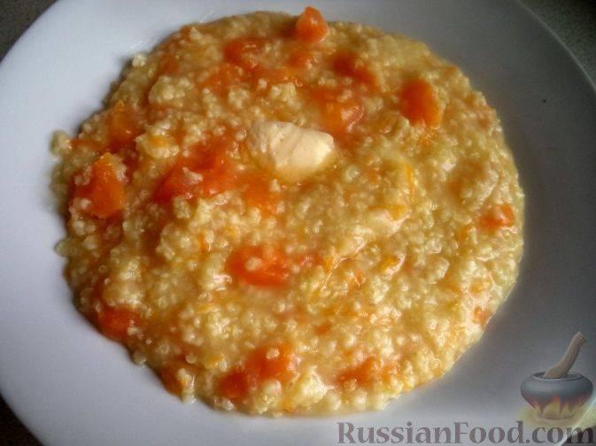 Каша из тыквы - быстро и вкусно, рецепты на воде, молоке, с рисом, пшеном и манной крупой