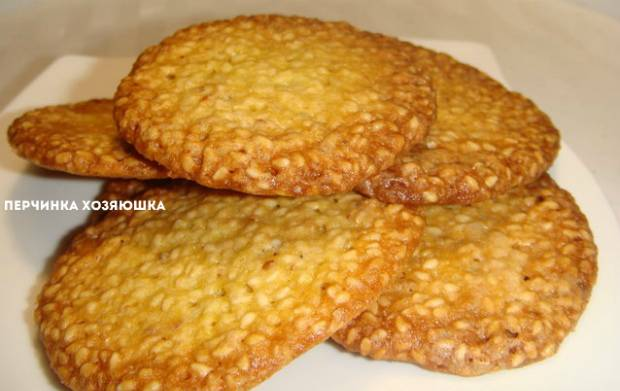 """Сырно-кунжутное печенье """"улитки"""""""