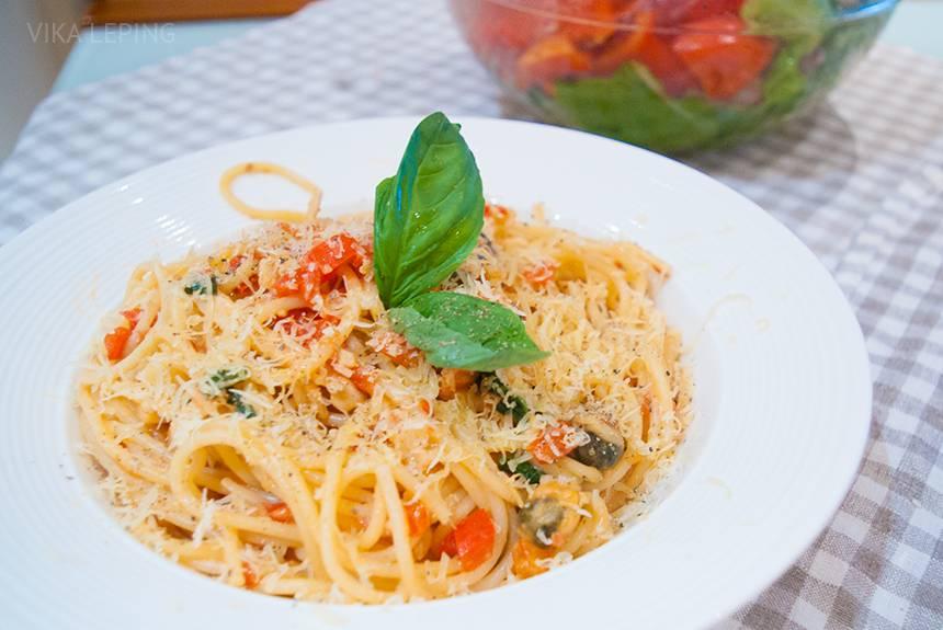 Паста с морепродуктами – самый быстрый рецепт