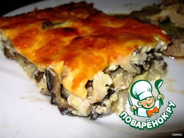 Картофельный рулет с грибами и мясным фаршем (пошаговый рецепт с фото)