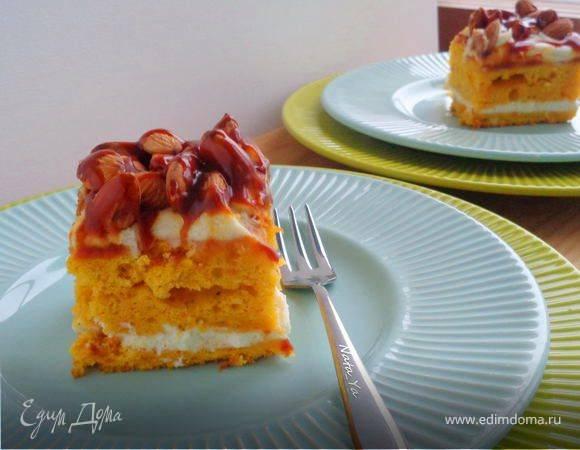 Тыквенно-заварное пирожное