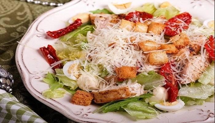 Салат цезарь - 4 лучших рецепта с фото