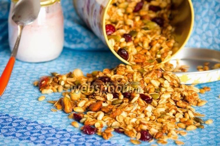 Гранола - рецепты в домашних условиях с медом, бананом, в микроволновке и на сковороде