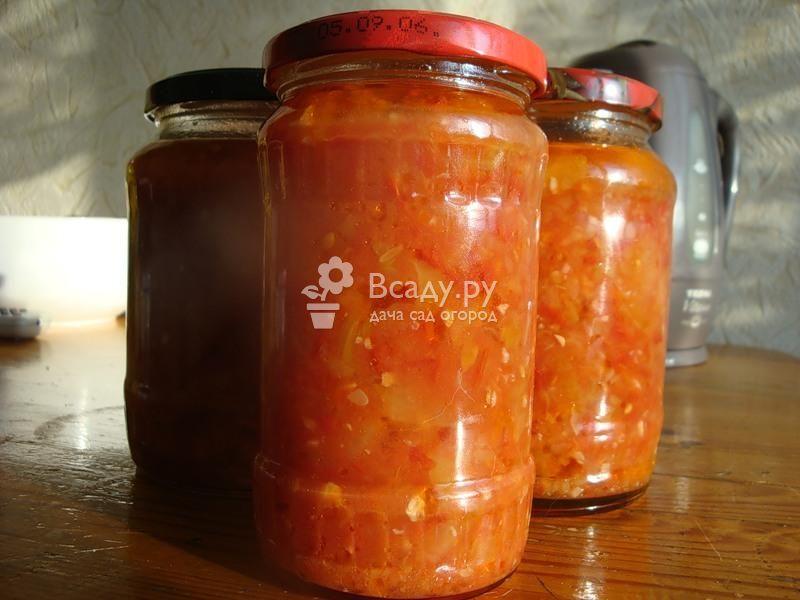 Рецепт: салат из кабачков в томате на зиму