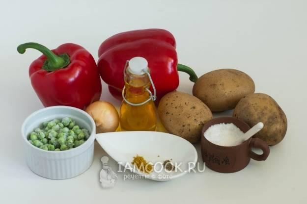 Перцы фаршированные фаршем и картошкой в мультиварке рецепт с фото