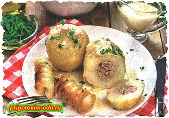 Фаршированная картошка в мультиварке