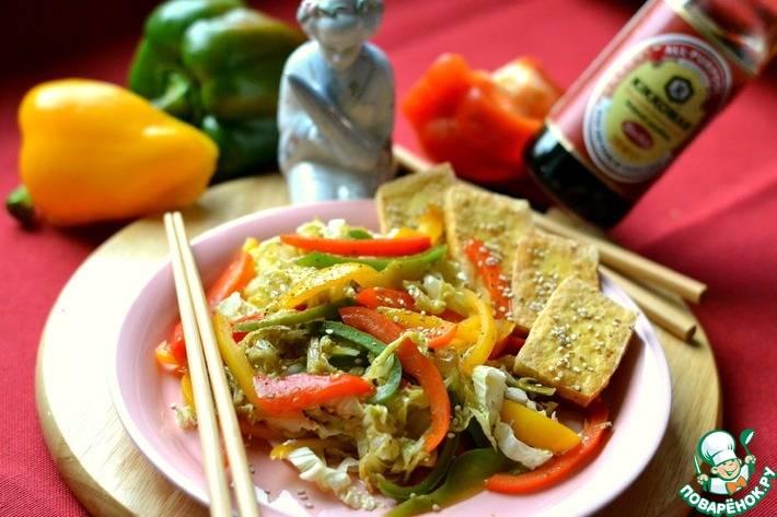 Салат с пекинской капустой и сладким перцем