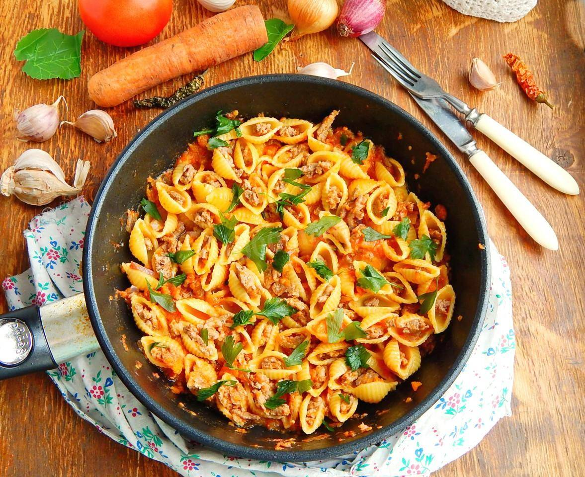 Ракушки с фаршем в духовке рецепт с фото