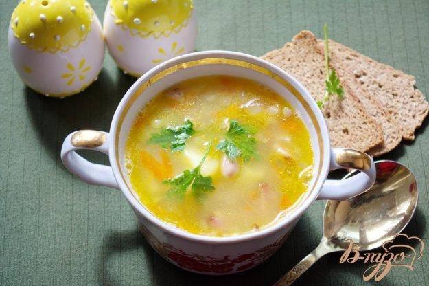 Куриный суп с лапшой на яйцах