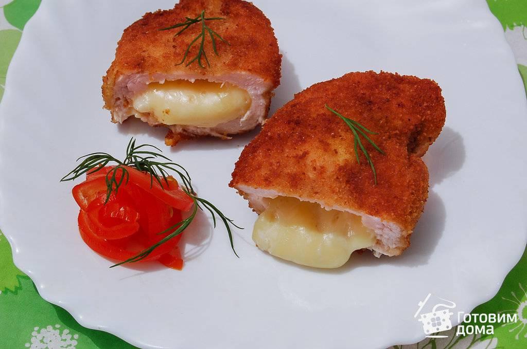 Грудка фаршированная грибами и сыром в духовке