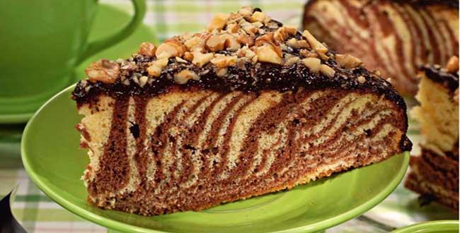 Торт «зебра»: рецепт приготовления вкусного торта с фото