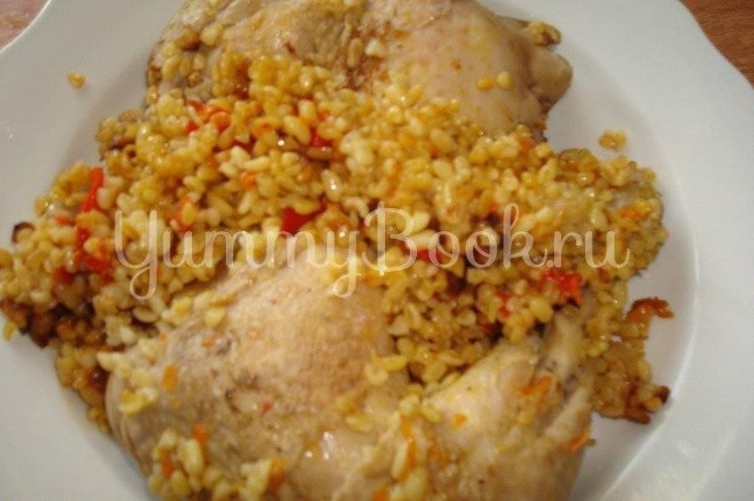 Булгур с куриными голенями в мультиварке (пошаговый рецепт с фото)