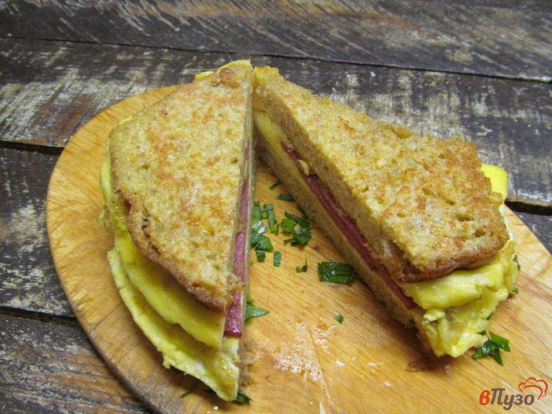 Бутерброды с омлетом