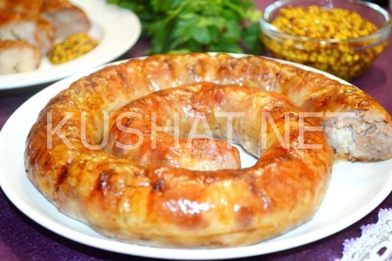 Домашняя колбаса из свинины в кишках рецепт