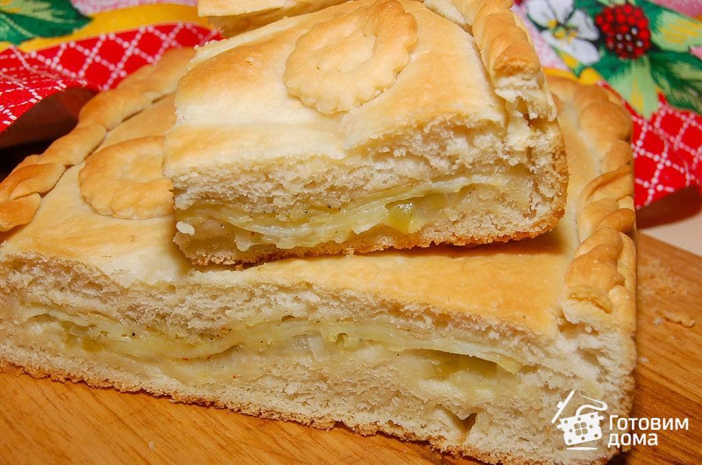 Пирог с картошкой и с грибами в духовке