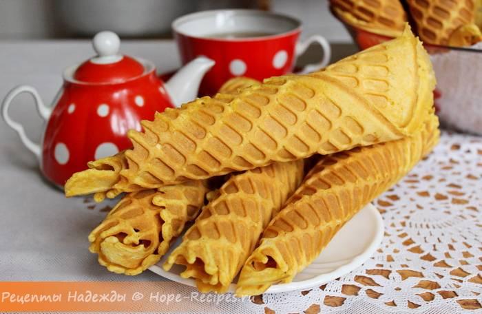 """Вафли """"марсельские"""" с какао-кремом"""