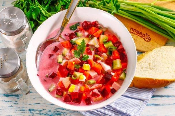 Холодный борщ - рецепты вкусного летнего блюда