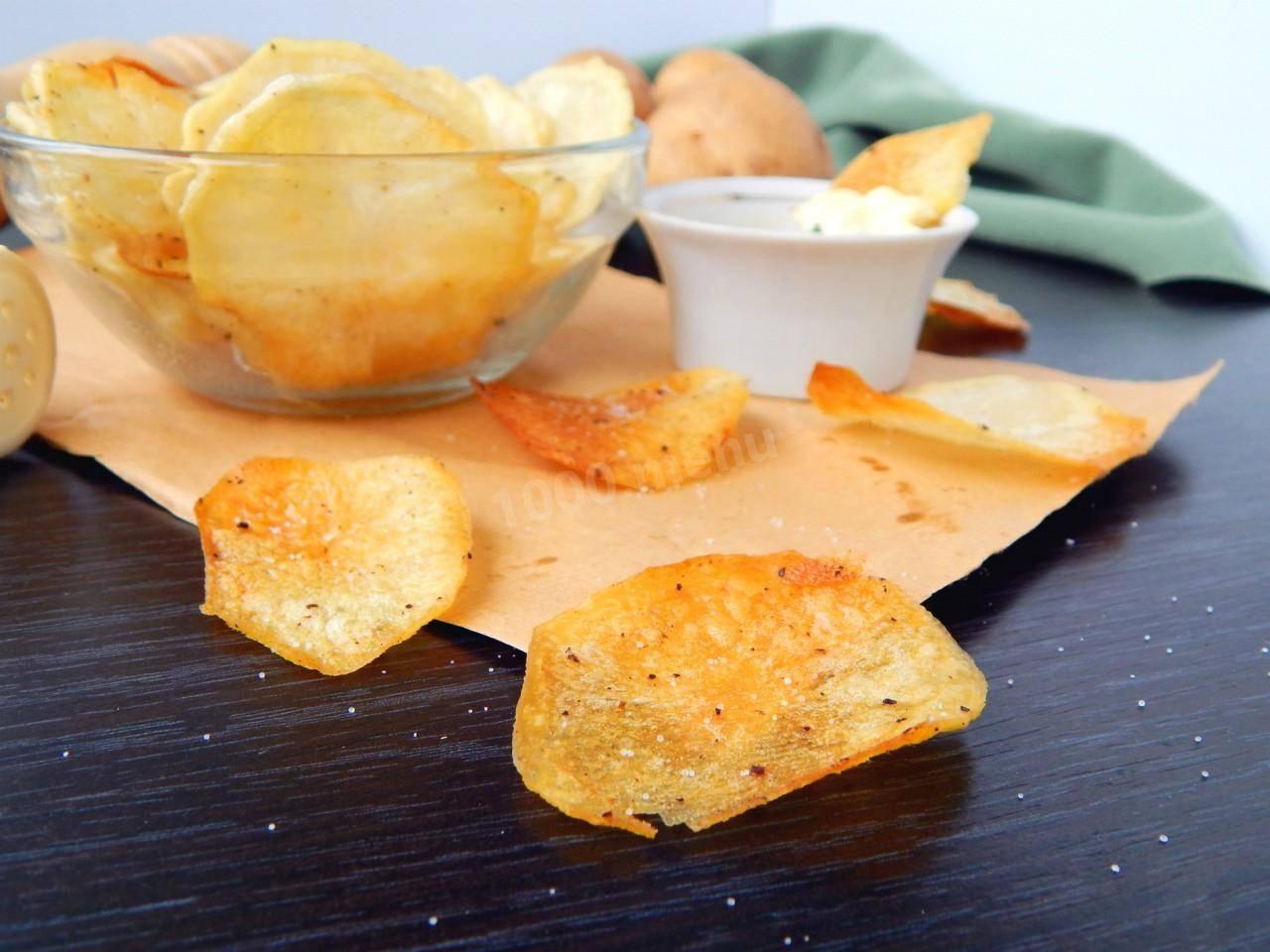 Как из картошки сделать чипсы в микроволновке