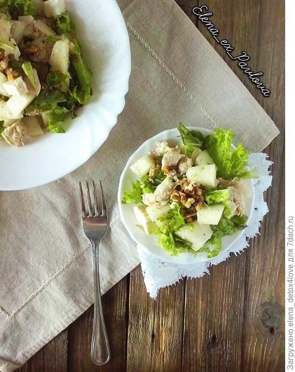 Куриное филе с дыней и базиликом