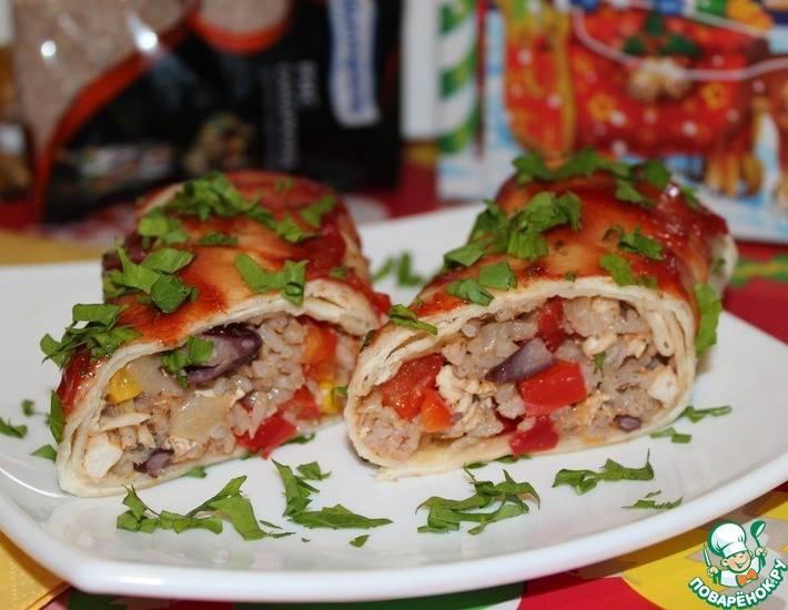 Рецепт буррито с курицей и стручковой фасолью пошагово с фото или готовим дома буррито