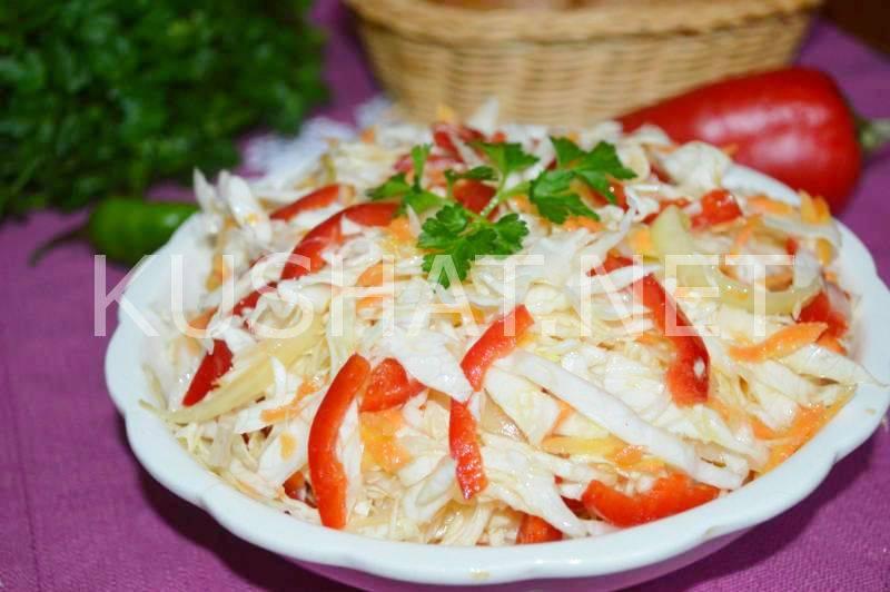 Салат из огурцов и болгарского перца на зиму