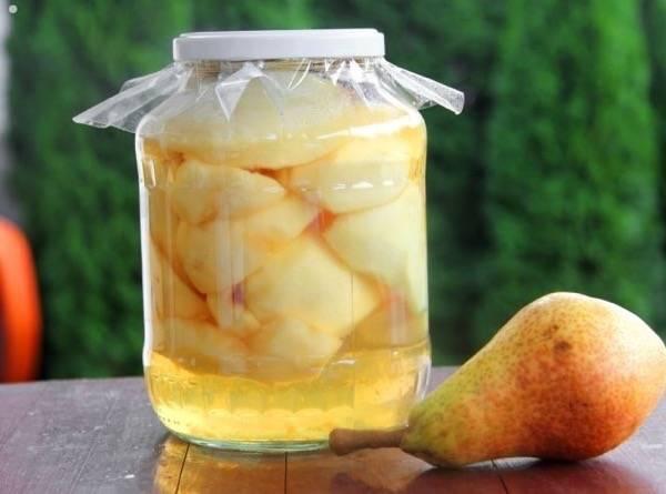 Компот из груш на зиму - простые рецепты без стерилизации с яблоками, сливами и лимоном