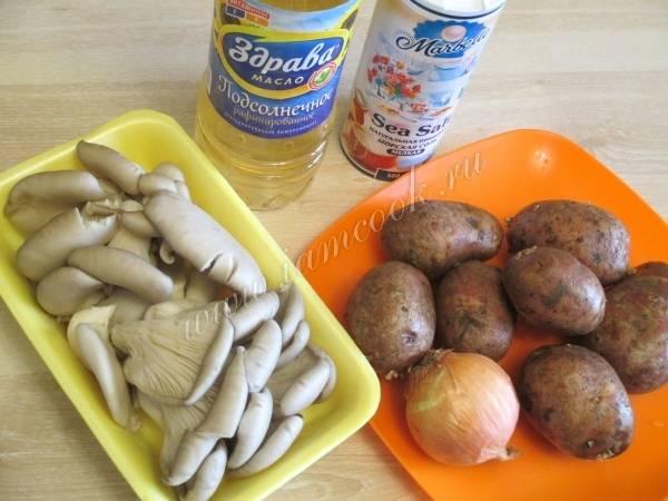 Запеченный картофель с вешенками