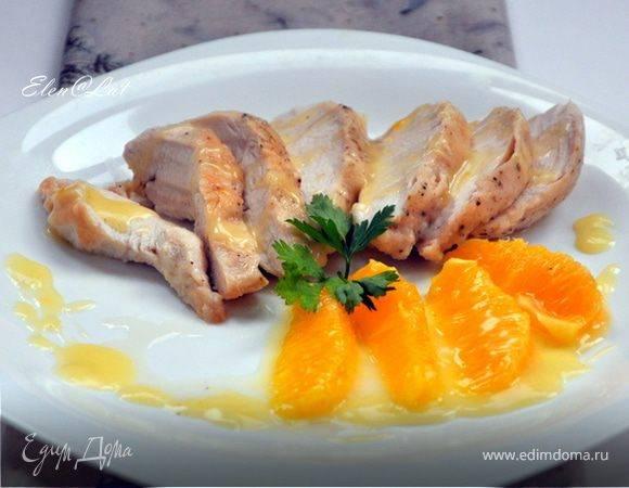 Грудка куриная, маринованная в апельсине и имбире
